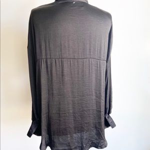 Free People Tops - NWOT Free People Long Sleeve Satin Shirt Blouse
